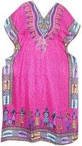 Mogul Interior Womens Kaftan Dashiki African Print Caftan Beach Dress XXXL