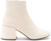 MM6 MAISON MARGIELA Flare Heel Ankle Boots in Cream
