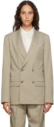 Lemaire Beige Double-Breasted Blazer