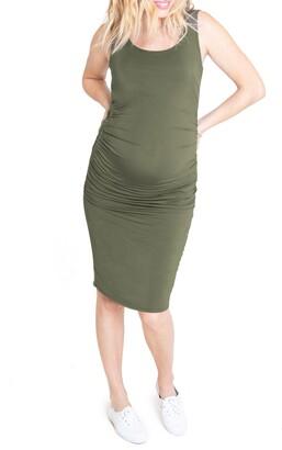Ingrid & Isabel Ruched Maternity Tank Dress