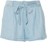 Splendid Belted Tencel-chambray Shorts - Light denim