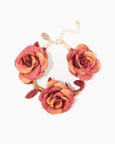Charming charlie Twisted Leather Flower Bracelet