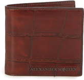 Alexander McQueen Crocodile-effect leather wallet