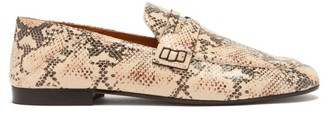 Isabel Marant Fezzy Collapsible-heel Leather Loafers - Womens - Light Pink