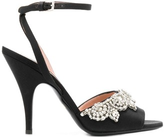 Moschino bejeweled high-heel sandals