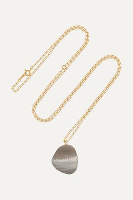 Cvc Stones Noon 18-karat Gold, Stone And Diamond Necklace - one size