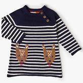 John Lewis Fawn Stripe Knit Dress, Navy
