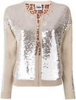 Twin-Set sequinned zipped cardigan