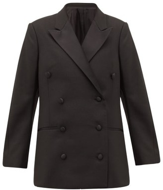 Totême Loreo Double-breasted Tuxedo Jacket - Womens - Black