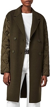 AllSaints Florence Quilted Sleeve Coat