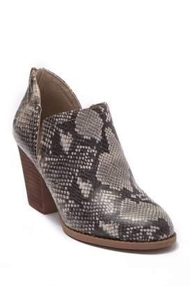 Carlos by Carlos Santana Carmin Snakeskin Print Block Heel Ankle Boot