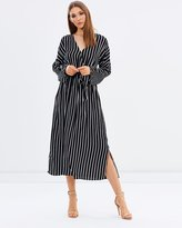 Mng Flowy Striped Dress