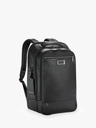 Briggs & Riley AtWork Medium Leather Backpack, Black