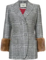 Fendi Glen plaid jacket