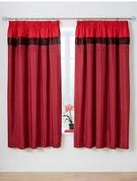 Very Velvet Panel Red Pleated Curtains