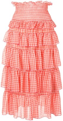 Sandy Liang Choux-Choux gingham skirt