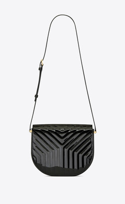 Saint Laurent Monogramme Satchel Joan Satchel In Y-quilted Patent Leather Black Onesize