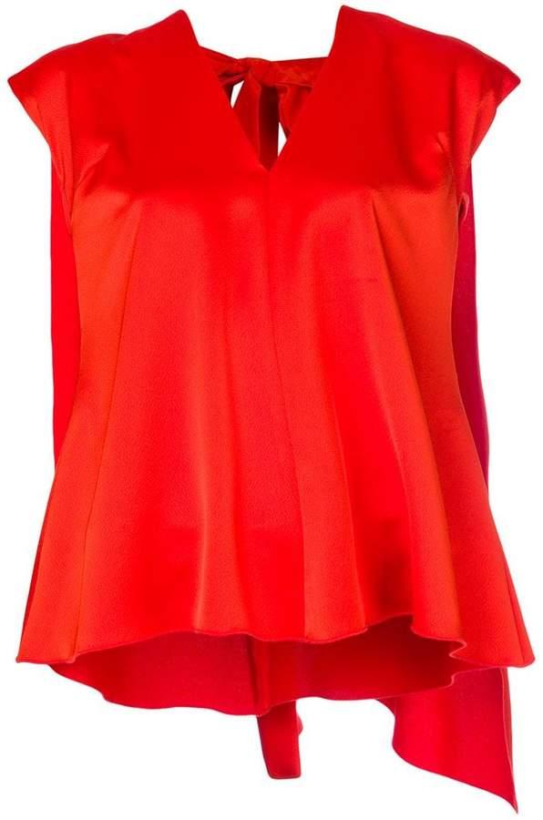 MSGM cape-effect blouse