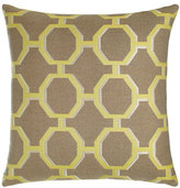 Elaine Smith Citrine Octagons Outdoor Pillow