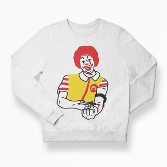 Love Your Mom Junky Roland Unisex White Sweatshirt