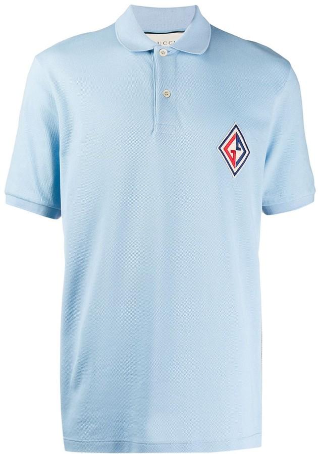 cbbc08a1 embroidered logo patch polo shirt
