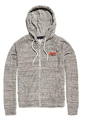 Superdry Women's Beachterryziphood Sports Hoodie, (Gnarly Grey Marl Rv3), (Size: 12)