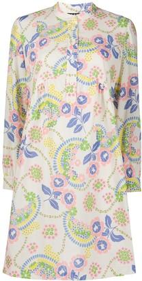 A.P.C. Floral Print Shirt Dress