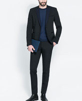 Zara Suit With Contrasting Lapel