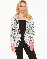 Le Château Abstract Print Collarless Blazer