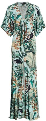 PatBO Eden Print Jersey Maxi Dress