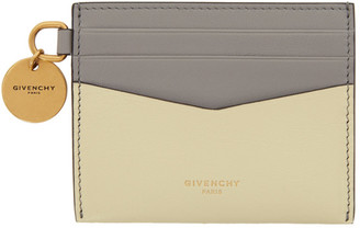 Givenchy Grey and Yellow Two-Tone Edge Card Holder