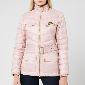 Barbour International Women's Gleann Quilted Jacket - Blusher - UK 8