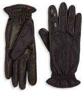 Prada Nylon & Nappa Leather Gloves
