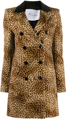 Redemption Double Breasted Leopard-Print Coat