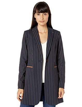 Tommy Hilfiger Women's Stripe One Button Topper