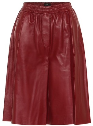 Joseph Tomy leather Bermuda shorts