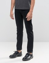 Cheap Monday Sonic Slim Jeans Black Sea Selvage
