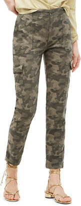 J.Crew High Waist Camo Jacquard Tapered Cargo Pants