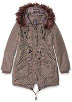 DreiMaster Women's Parka Long Sleeve Jacket - Brown