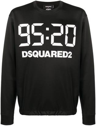 DSQUARED2 Logo-Print Long-Sleeve Sweatshirt