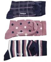 Barbour Spot And Striped Socks Set