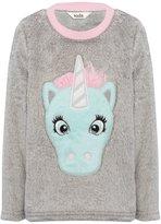 M&Co Unicorn fleece pyjama top