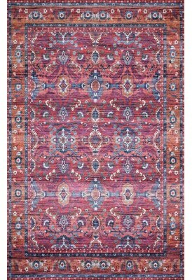 """Loloi Rugs Cielo Berry/Tangerine Area Rug Rug Size: Square 1'6"""""""