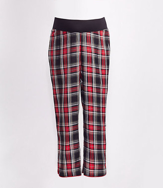 LOFT Maternity Plaid Cropped Pajama Pants