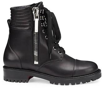 Christian Louboutin En Hiver Leather Combat Boots