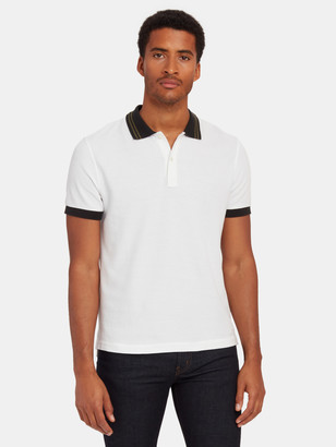 ATM Anthony Thomas Melillo Pique Polo with Tipping Detail