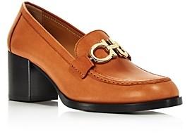 Salvatore Ferragamo Women's Rolo Moc-Toe Block-Heel Loafers