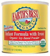 Earth Earth's Best Organic Soy Infant Formula with Iron - 23.2oz (4pk) BUNDLE
