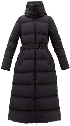 Moncler Goelo Long Hooded Down Coat - Black