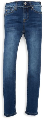 7 For All Mankind Girl's Buttoned Skinny Jeans